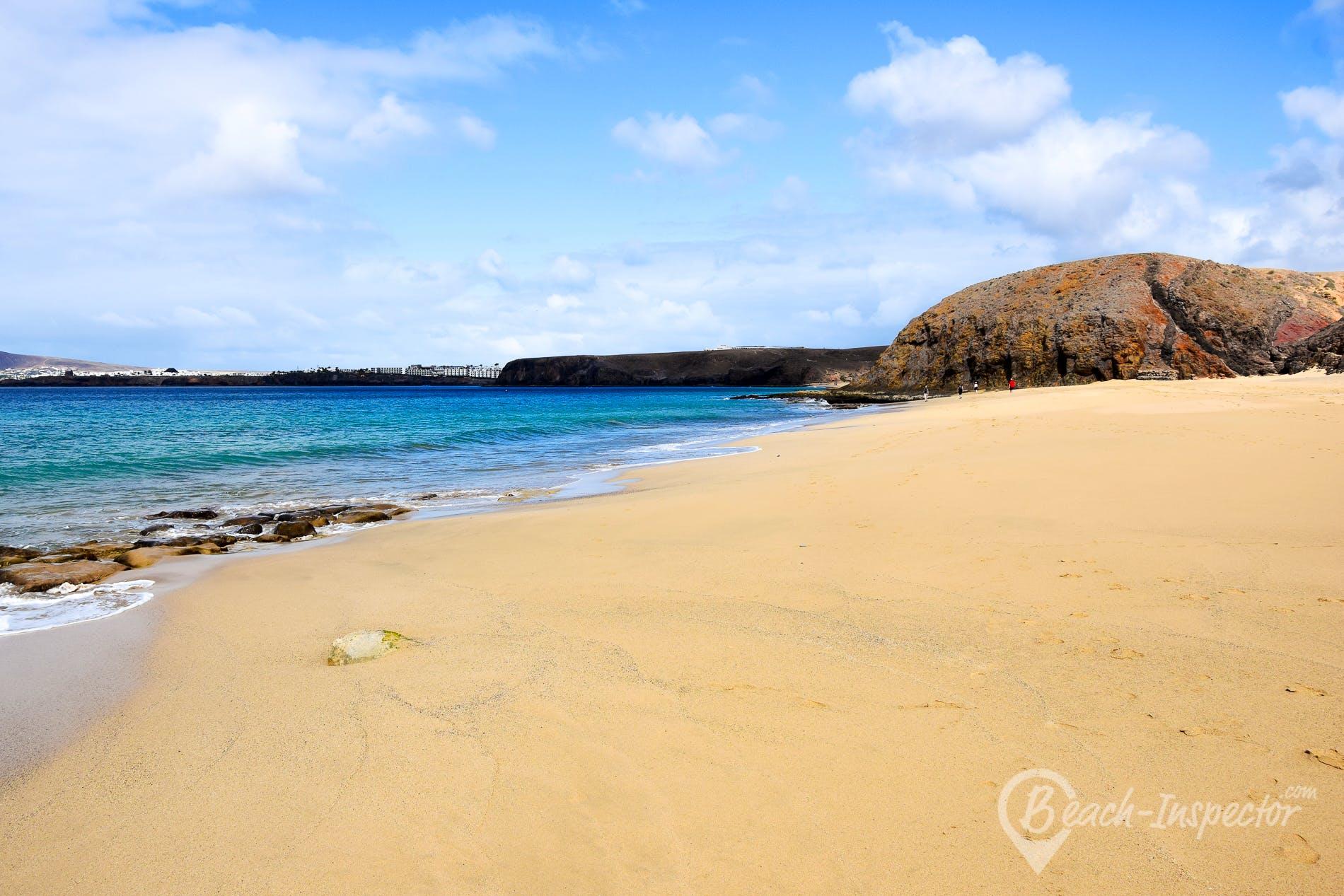 Strand Playa del Pozo, Lanzarote, Spanien