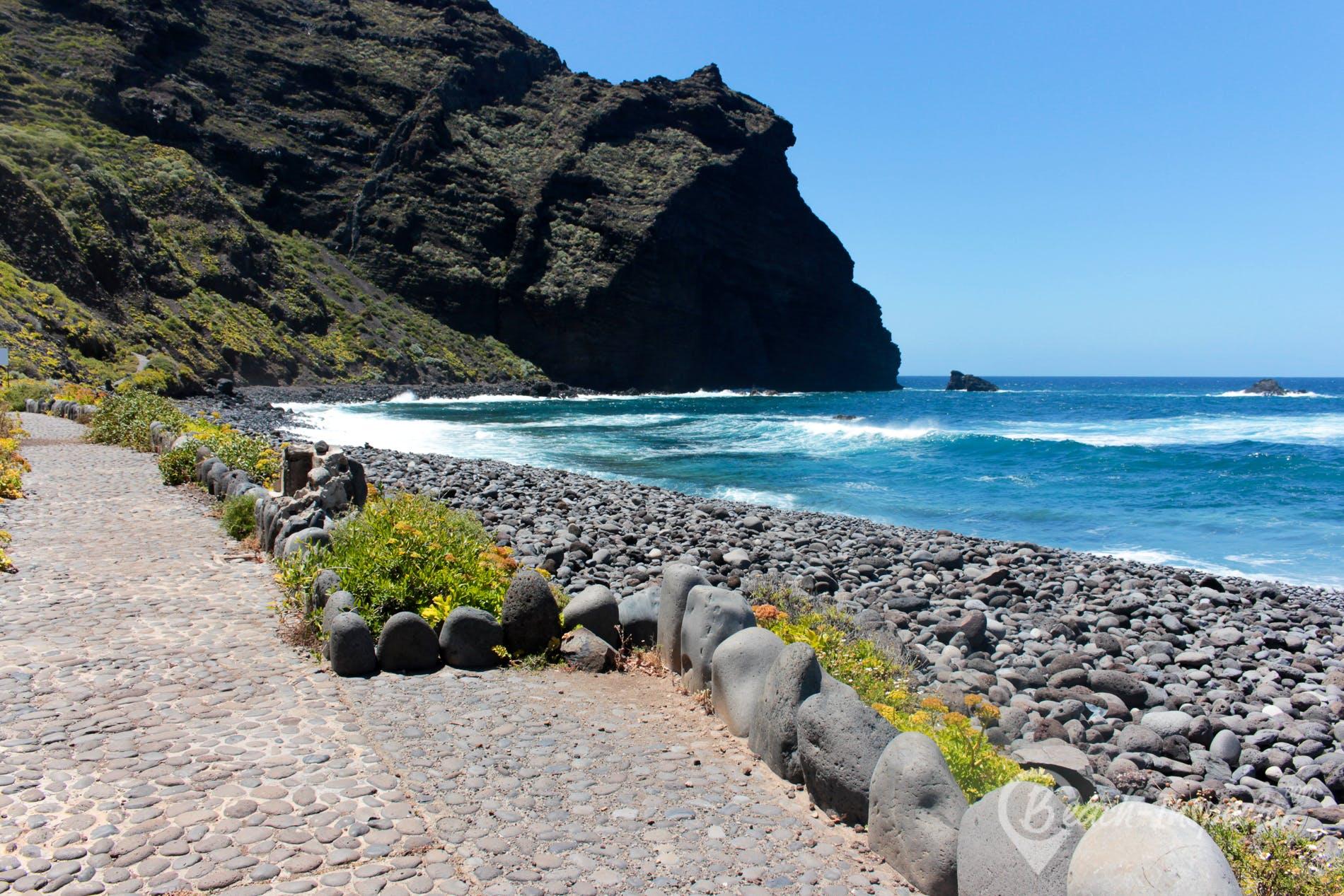 Beach Playa del Fraile, Tenerife, Spain