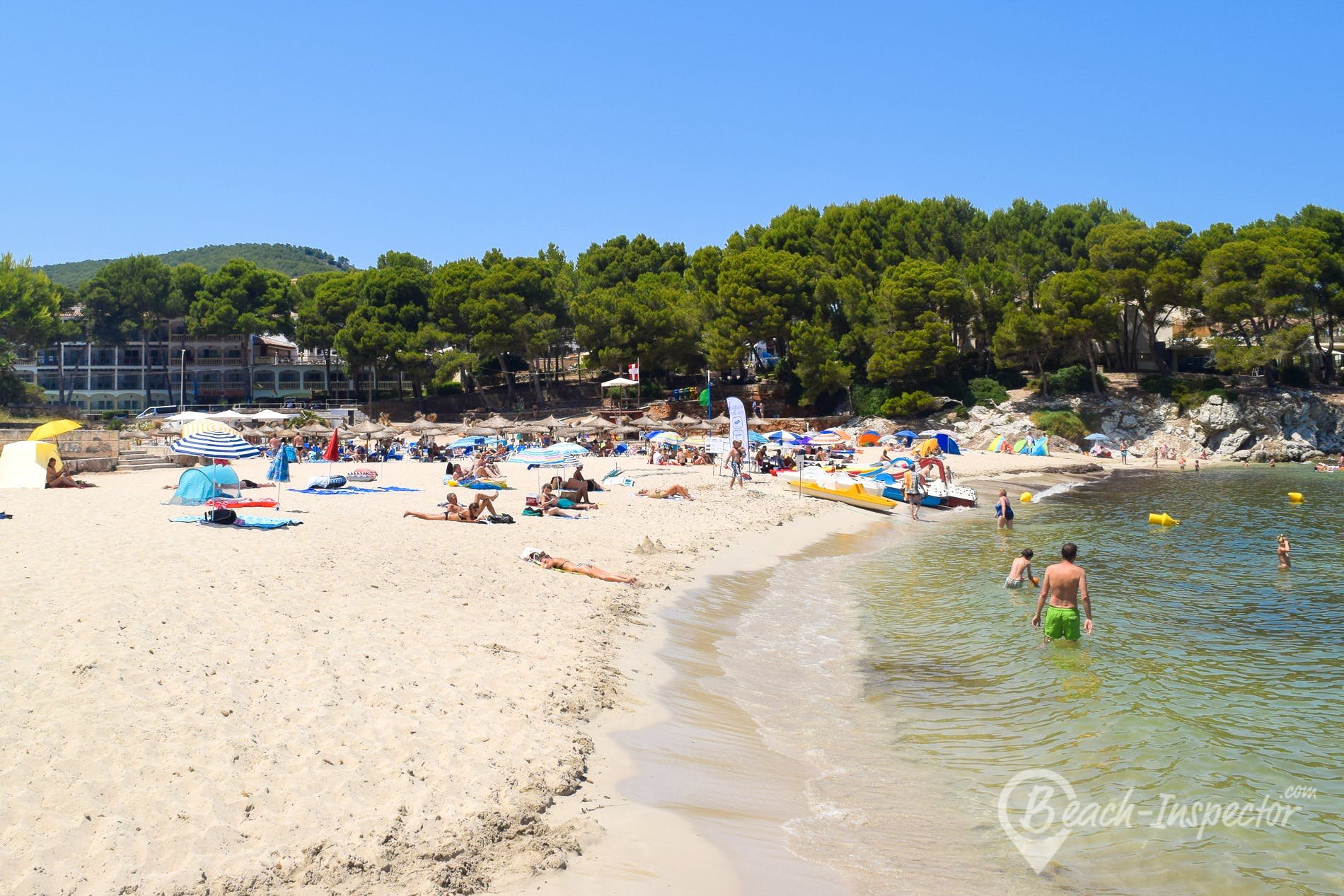 Strand Playa Font de Sa Cala, Mallorca, Spanien