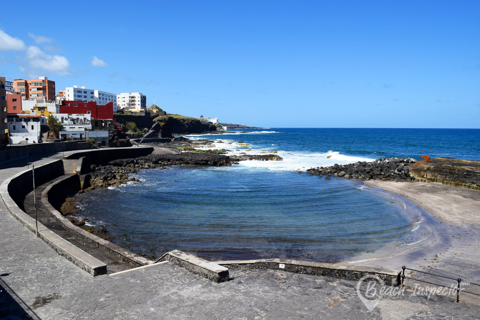 Beach Bajamar, Tenerife, Spain