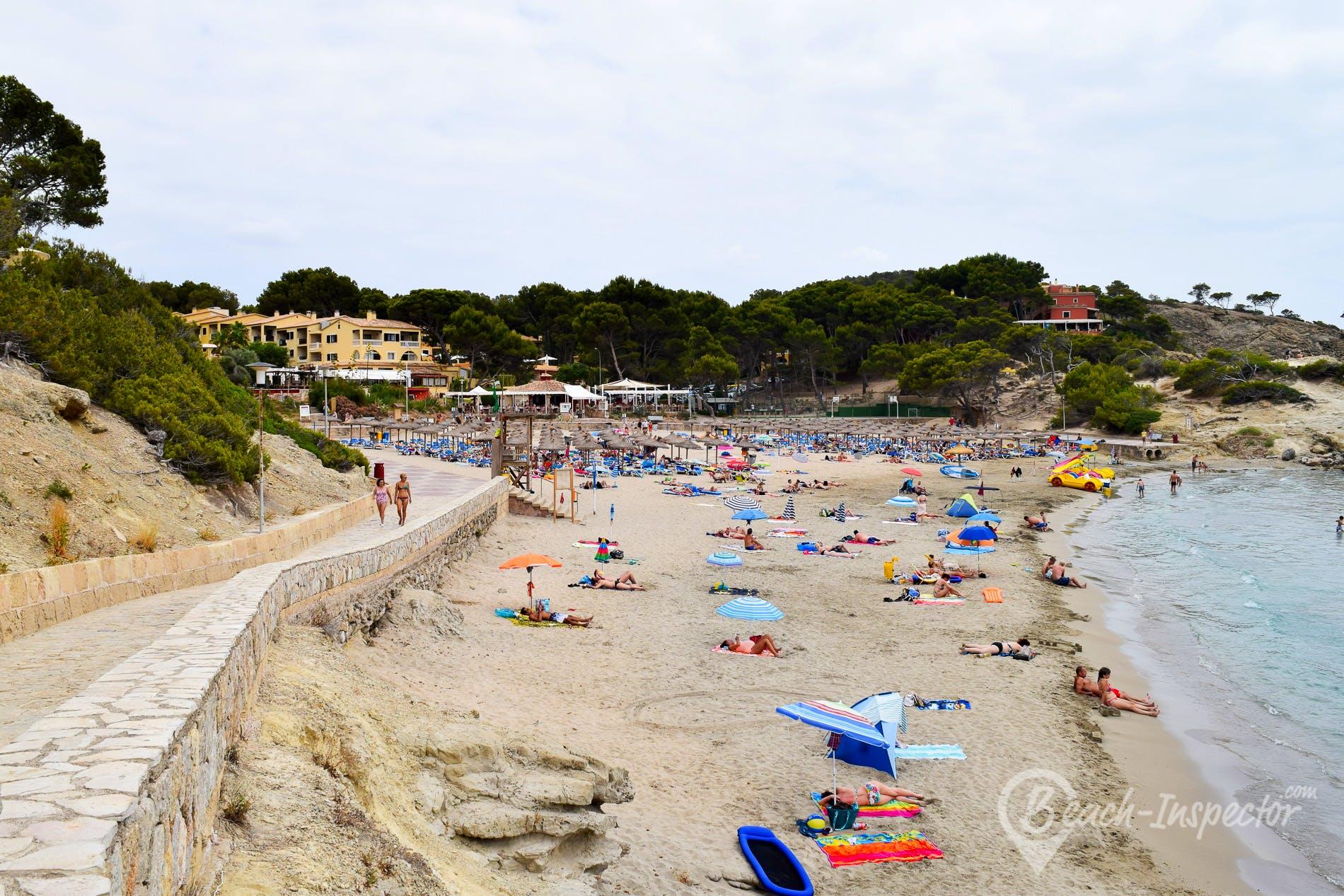 Beach Playa de Tora, Majorca, Spain