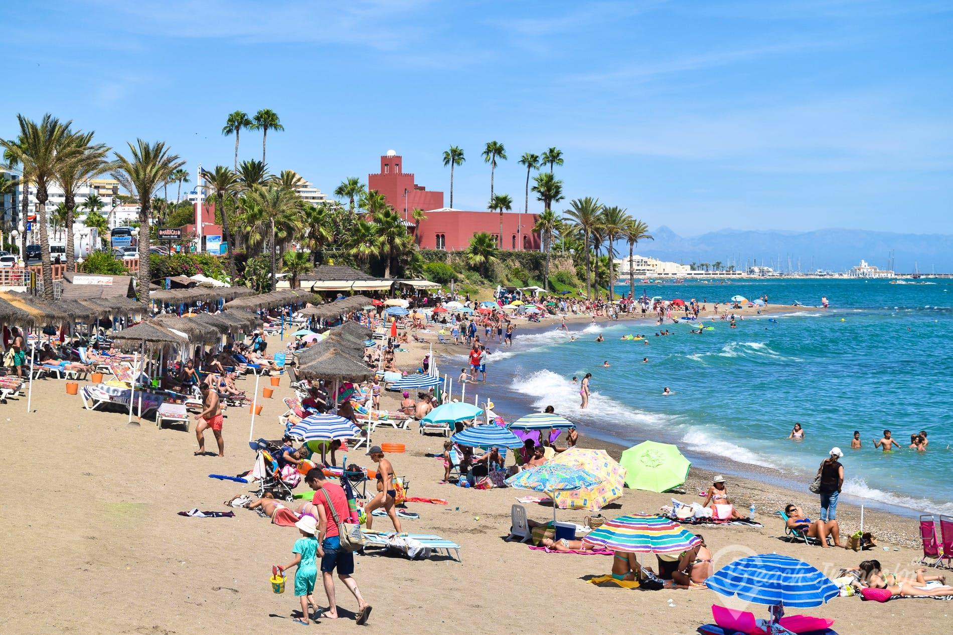 Beach Playa de Santa Ana, Costa del Sol, Spain