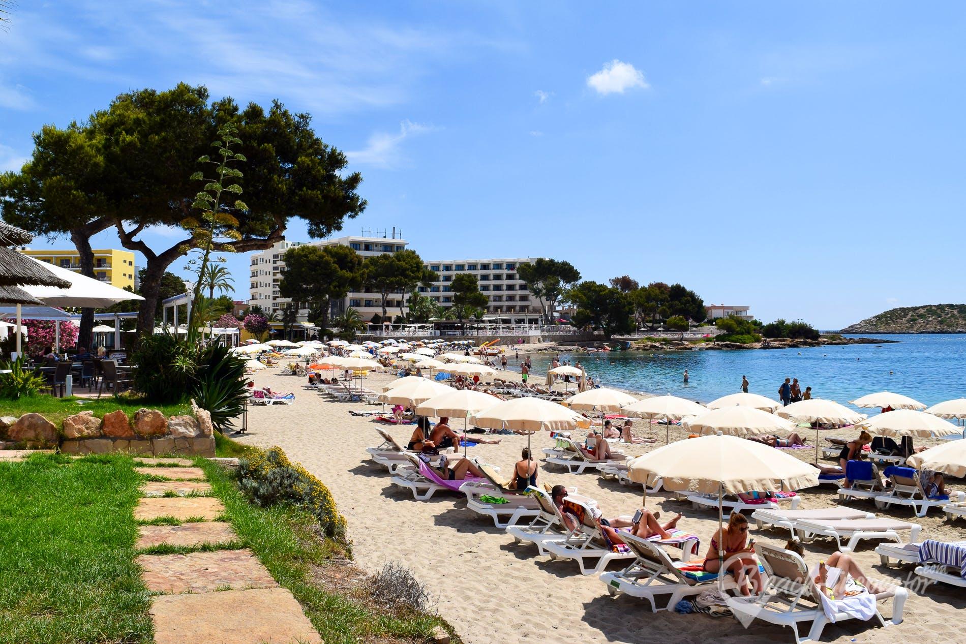 Strand Playa de Es Canar, Ibiza, Spanien