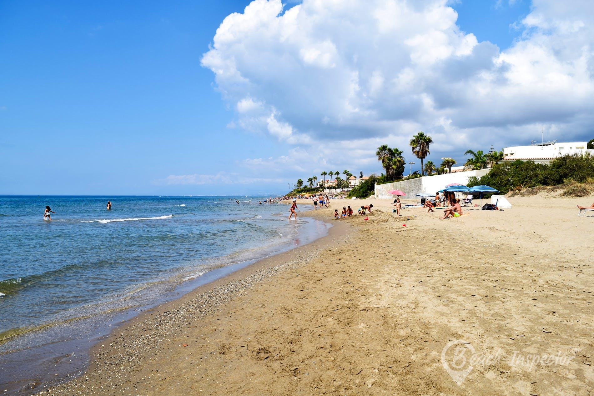 Beach Playa de Artola-Cabopino, Costa del Sol, Spain