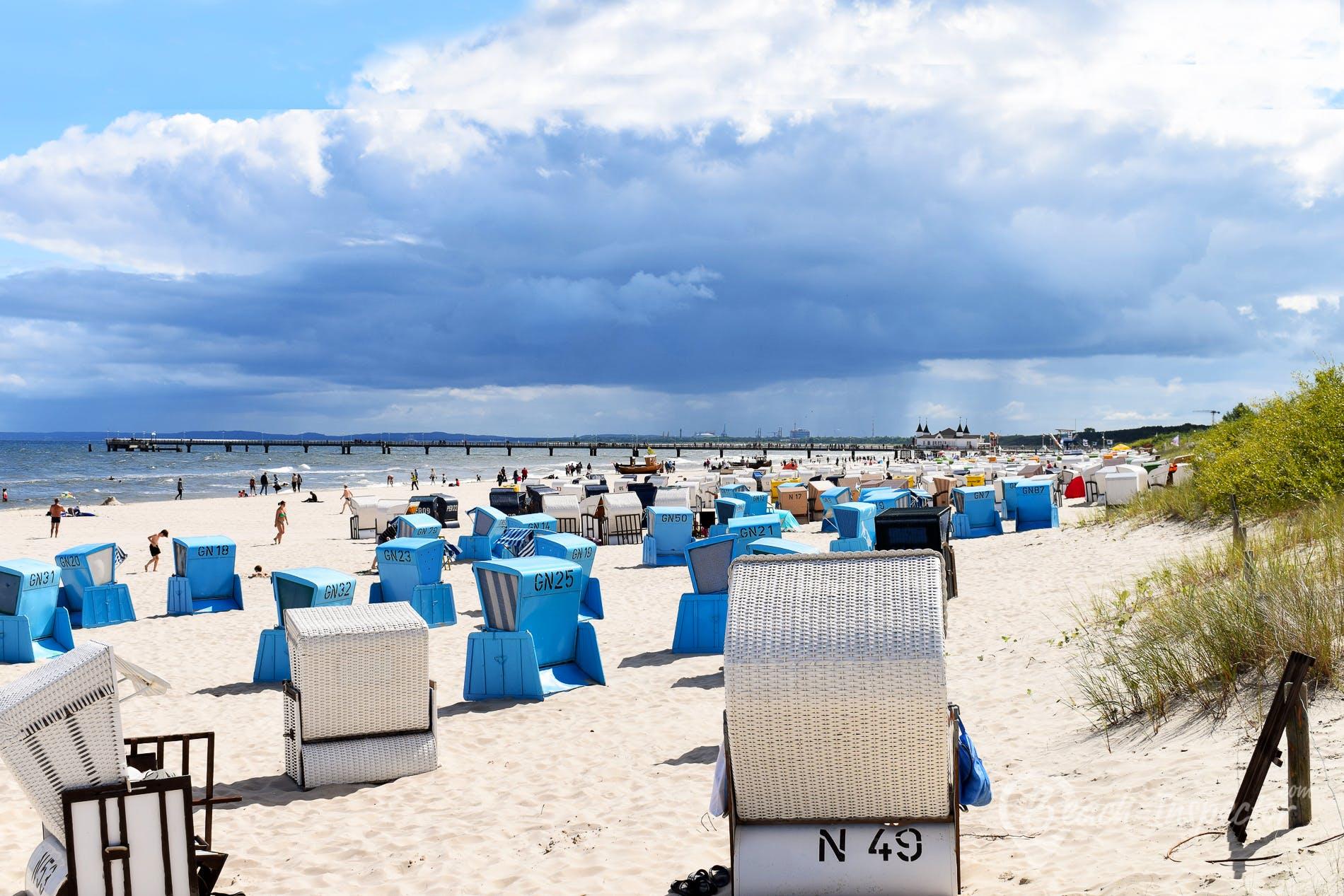 Strand Seebad Ahlbeck, Usedom, Deutschland