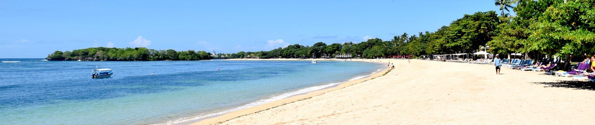 Nusa Dua Beach Model In A Chic Environment