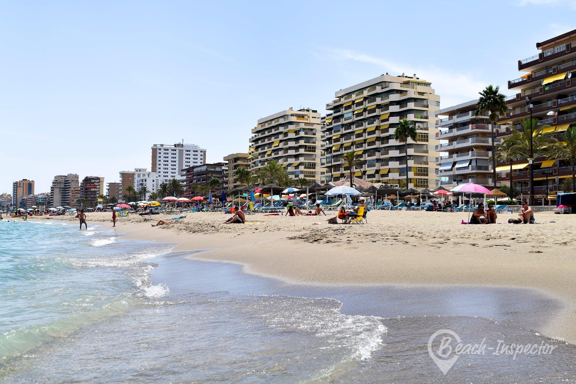 Beach Playa Los Boliches, Costa del Sol, Spain