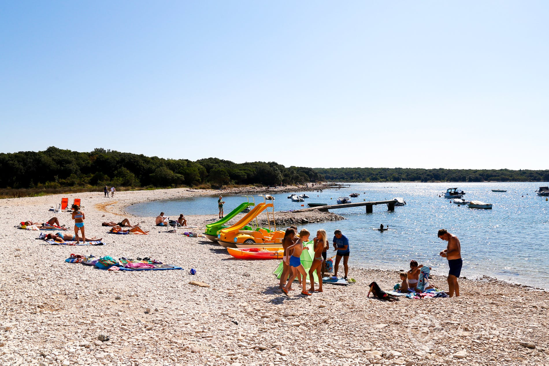 Playa Barbariga, Istria, Croacia