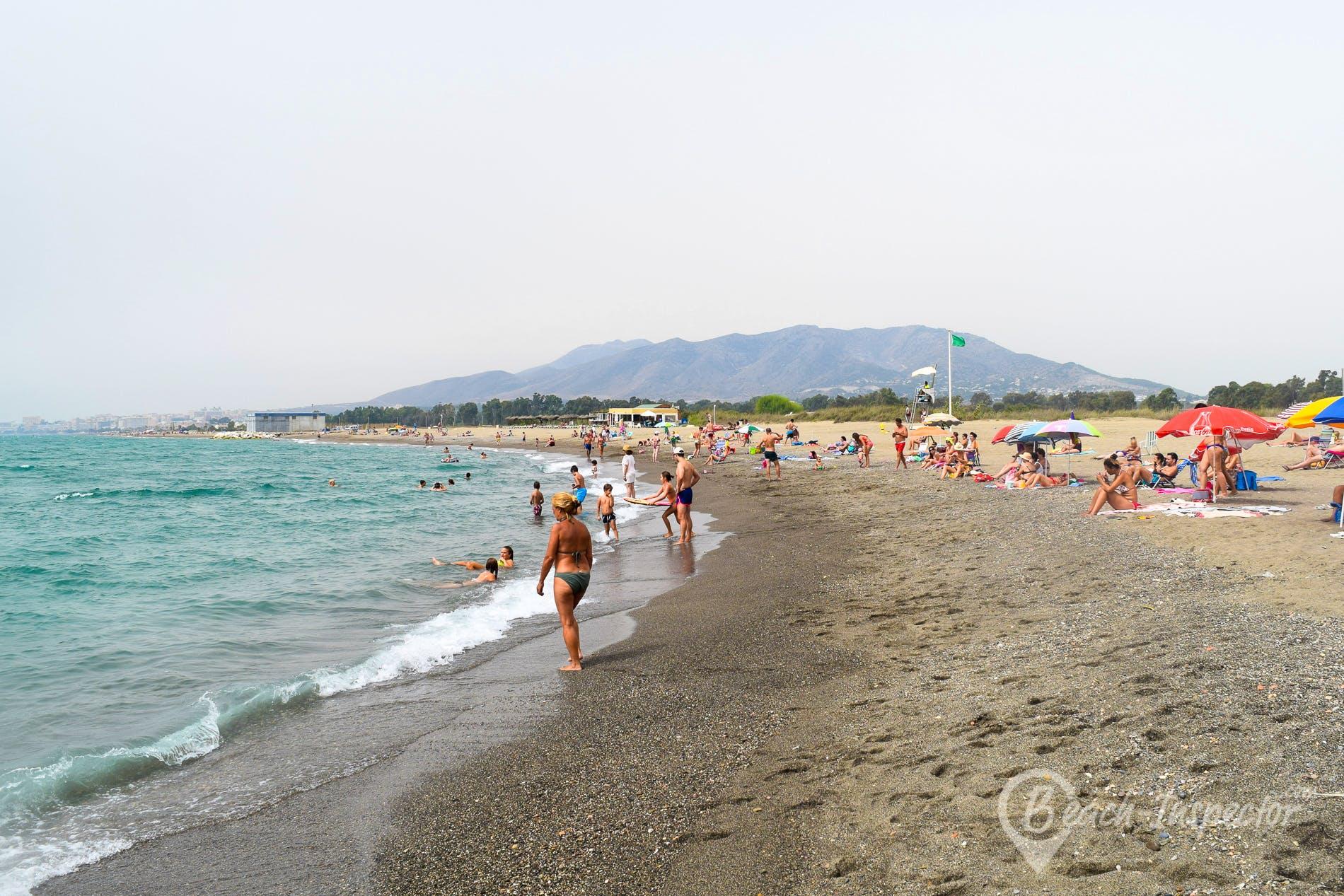 Strand Playa de Guadalmar, Costa del Sol, Spanien