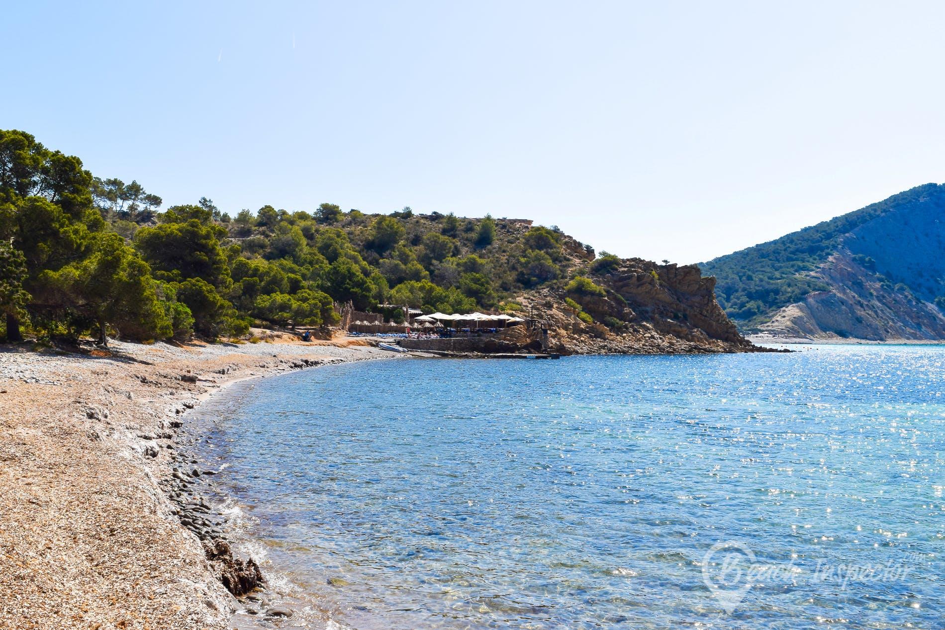 Strand Es Xarco, Ibiza, Spanien