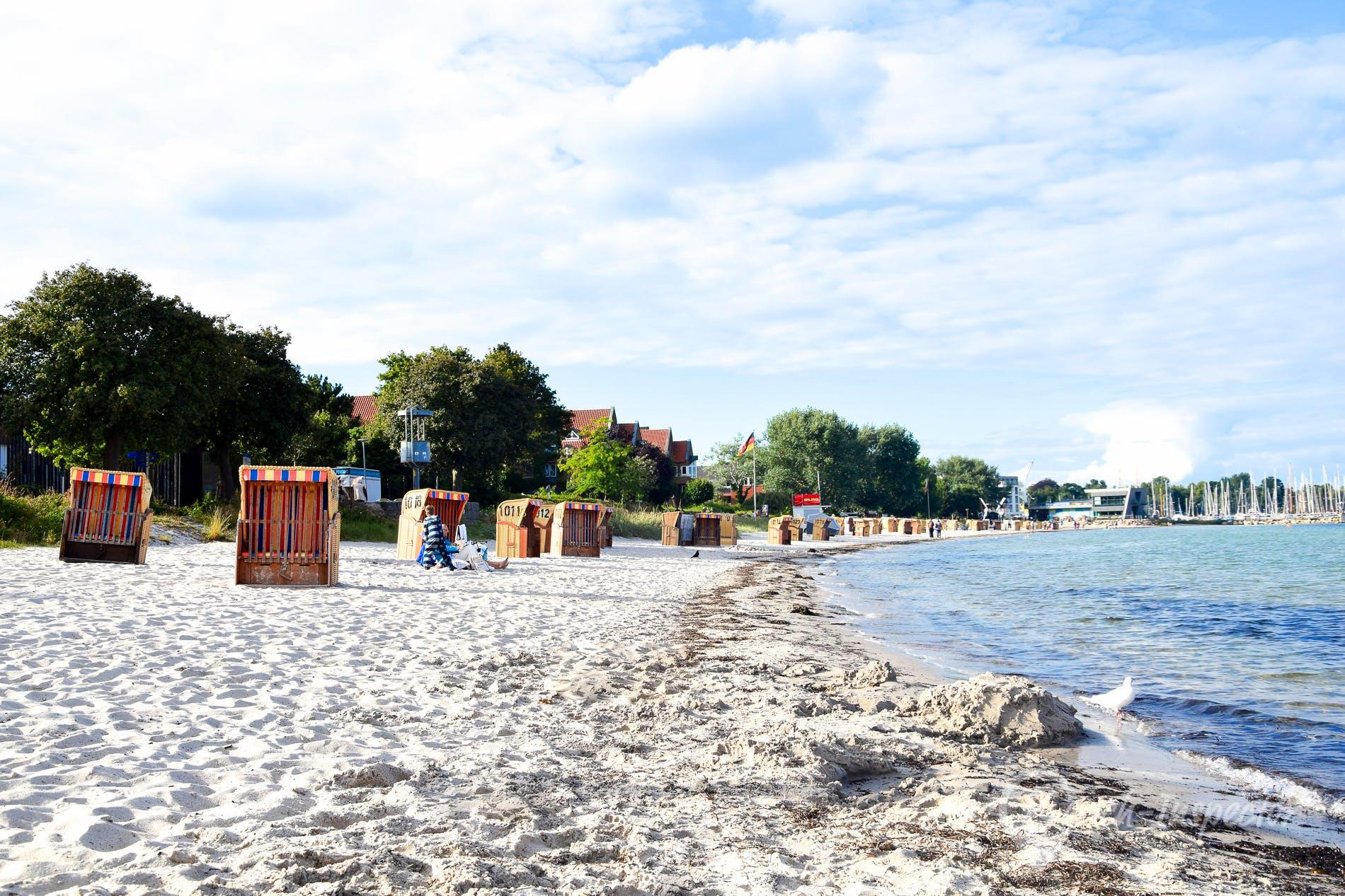 Strand Eckernförde Hauptstrand, Eckernförder Bucht, Deutschland