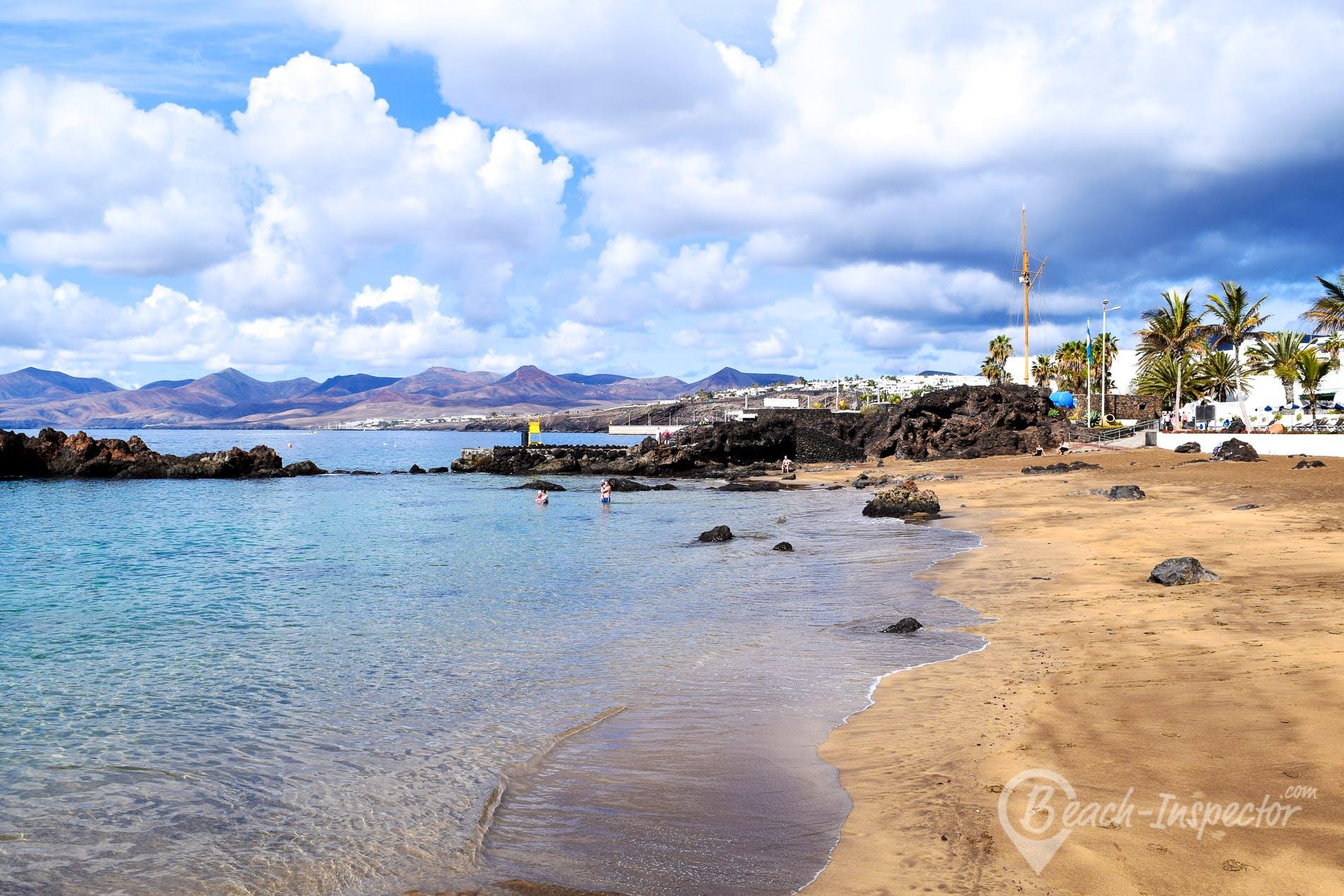 Beach Playa Chica, Lanzarote, Spain