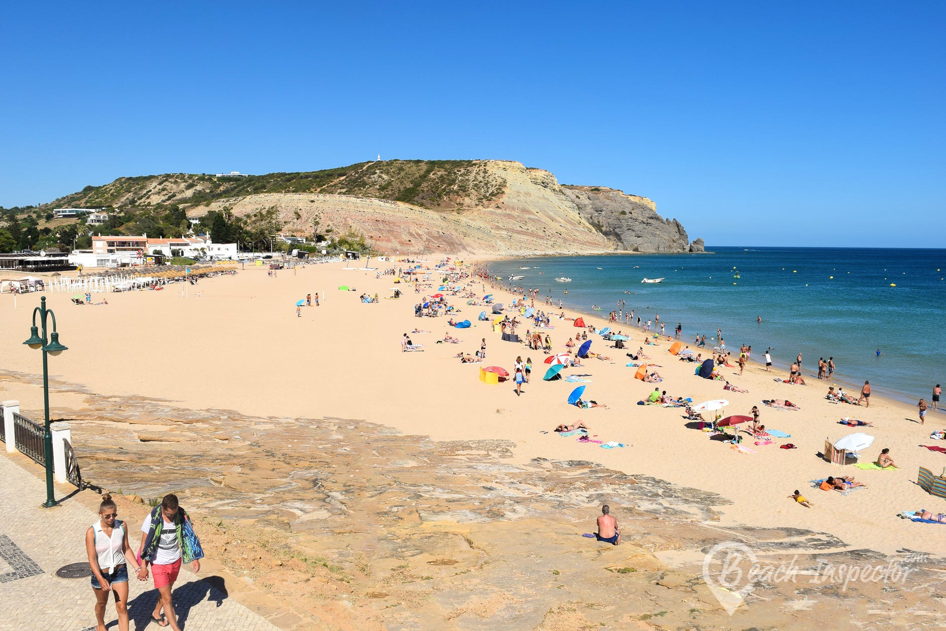 Beach Praia da Luz, Algarve, Portugal
