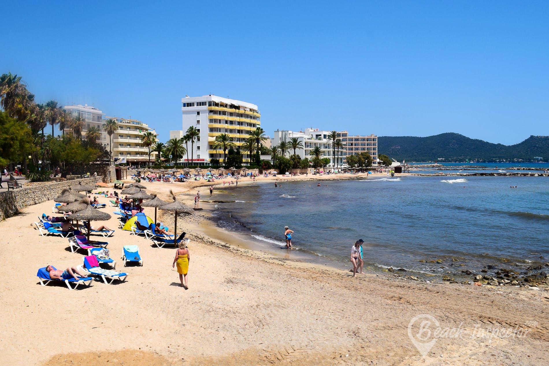 Strand Cala Bona, Mallorca, Spanien