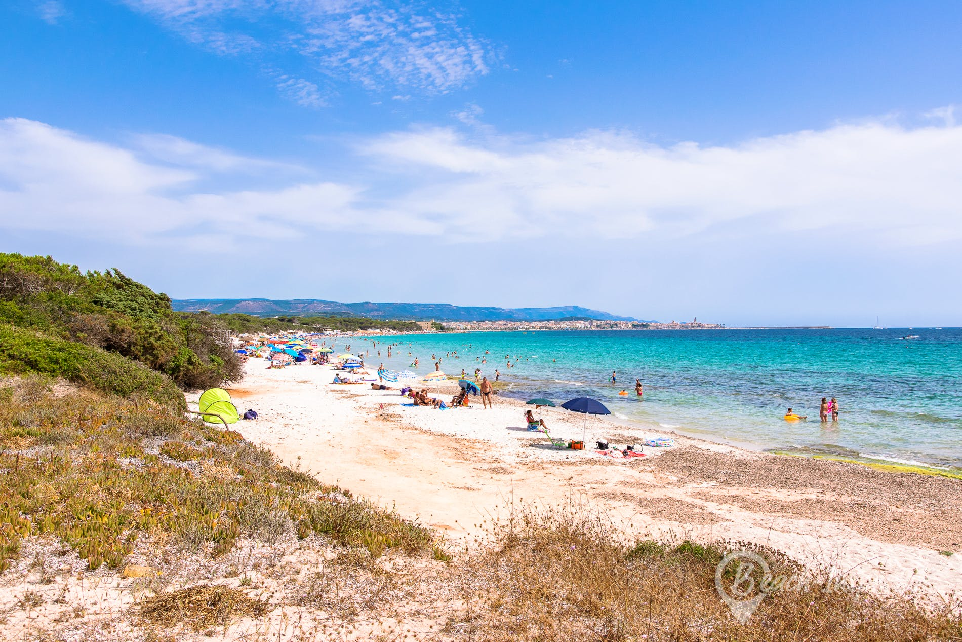 Beach Pineta di Maria Pia, Sardinia, Italy