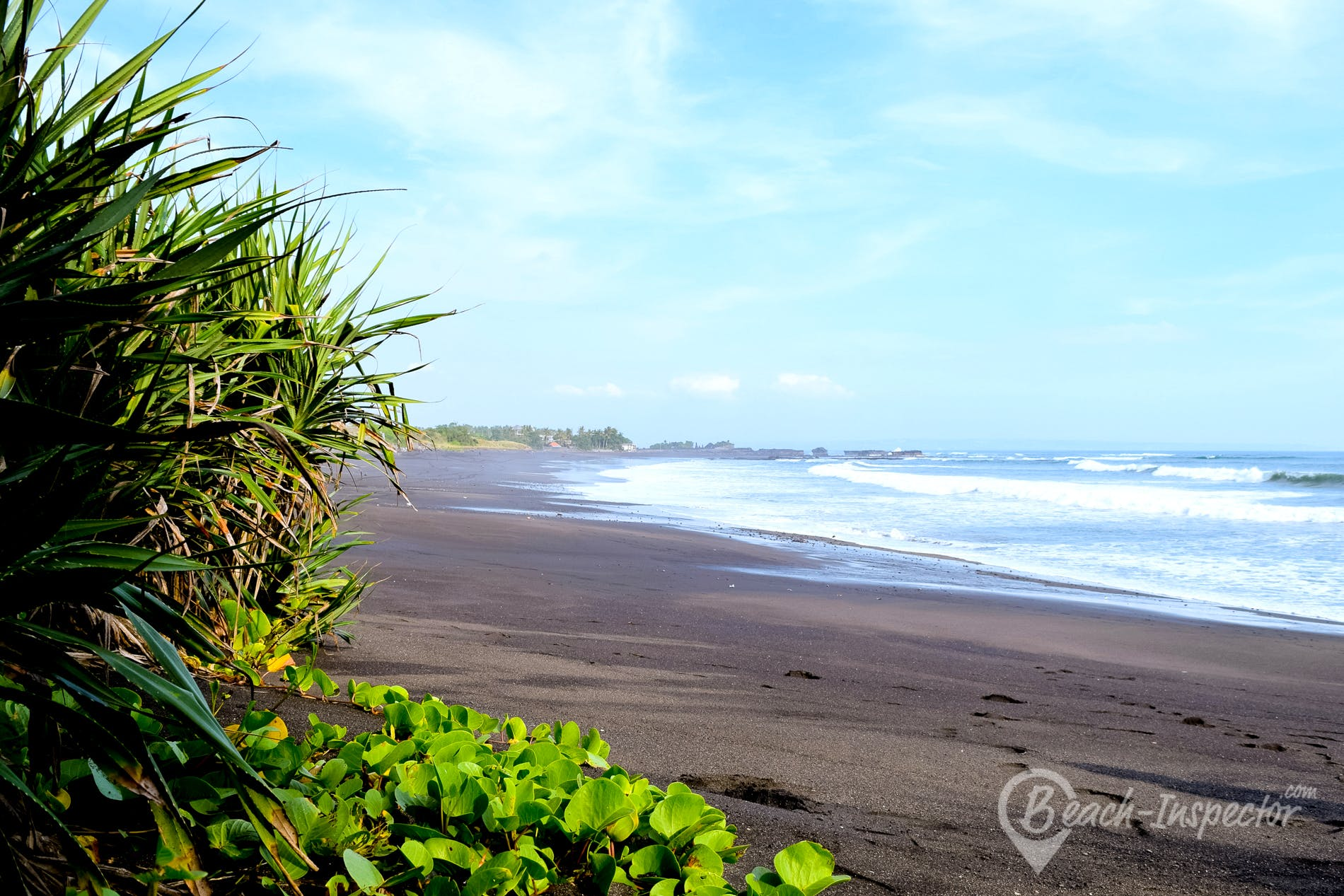Beach Nyanyi Beach, Bali, Indonesia