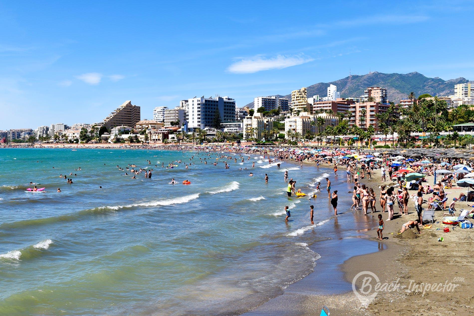 Strand Playa Malapesquera, Costa del Sol, Spanien