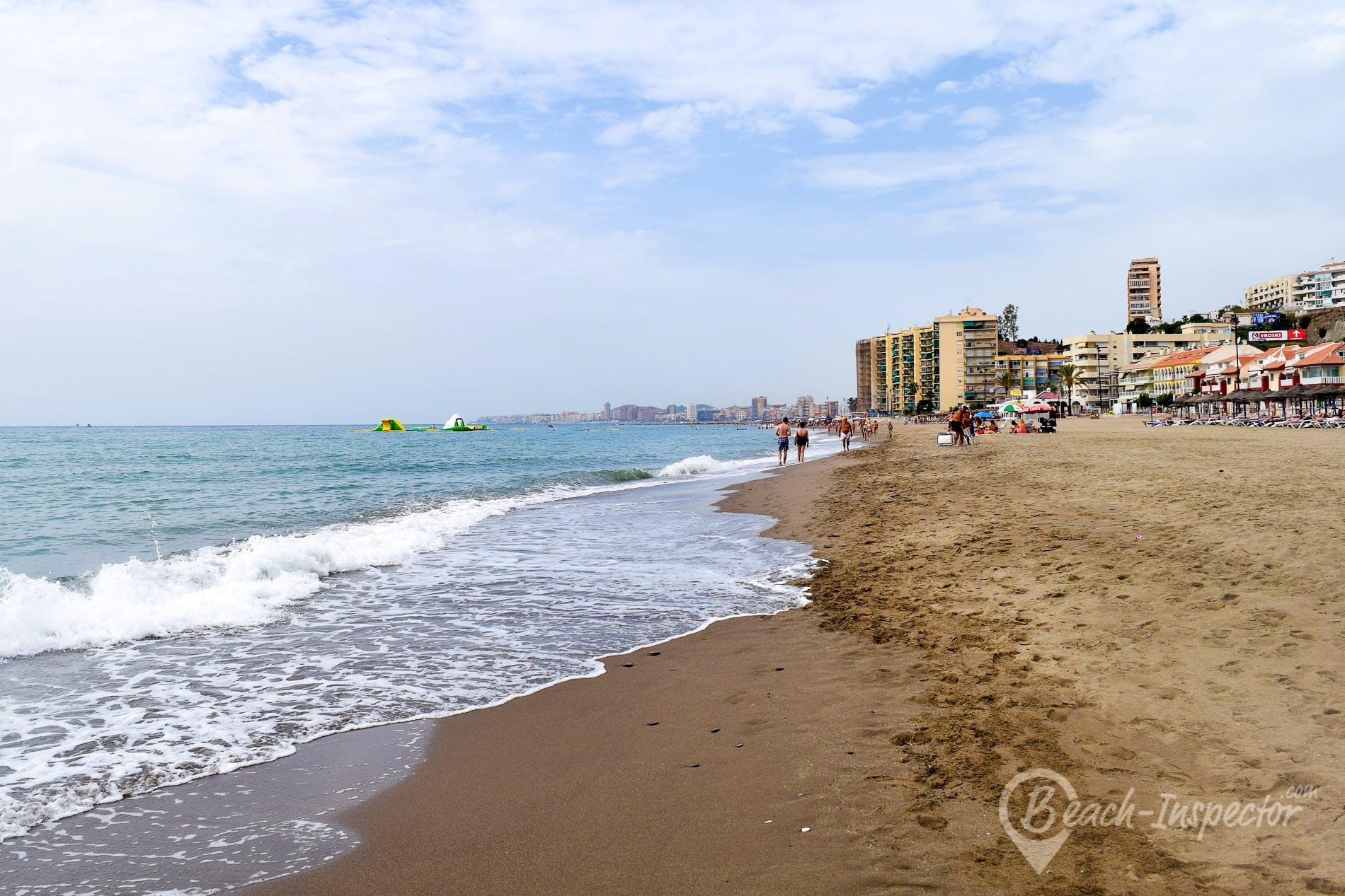 Beach Playa de Carvajal, Costa del Sol, Spain
