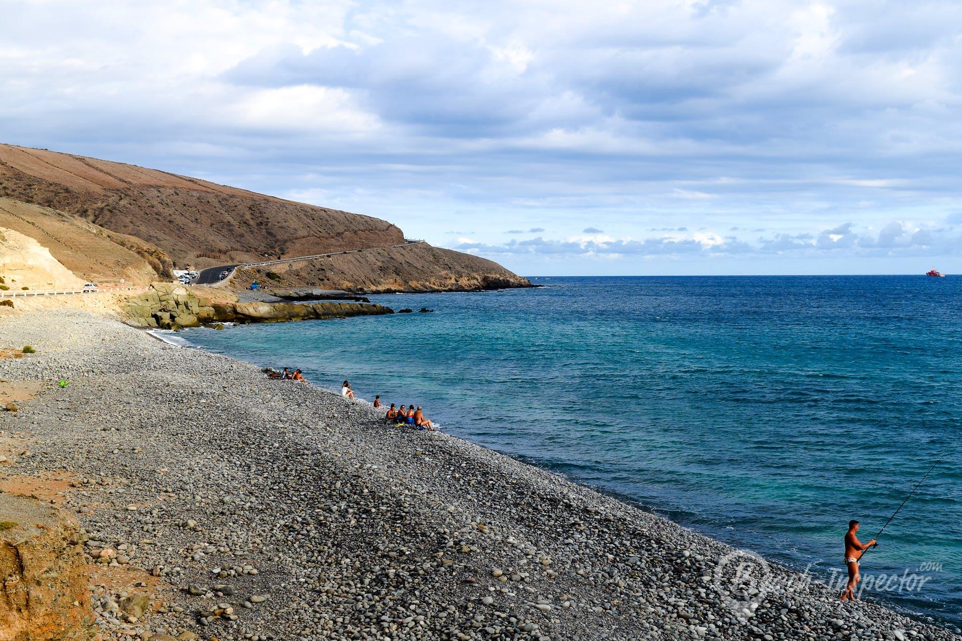 Beach Playa de Triana, Gran Canaria, Spain