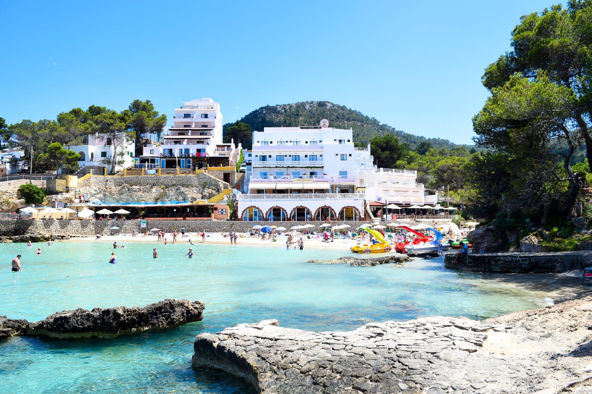 Beach S'Arenal Petit, Ibiza, Spain