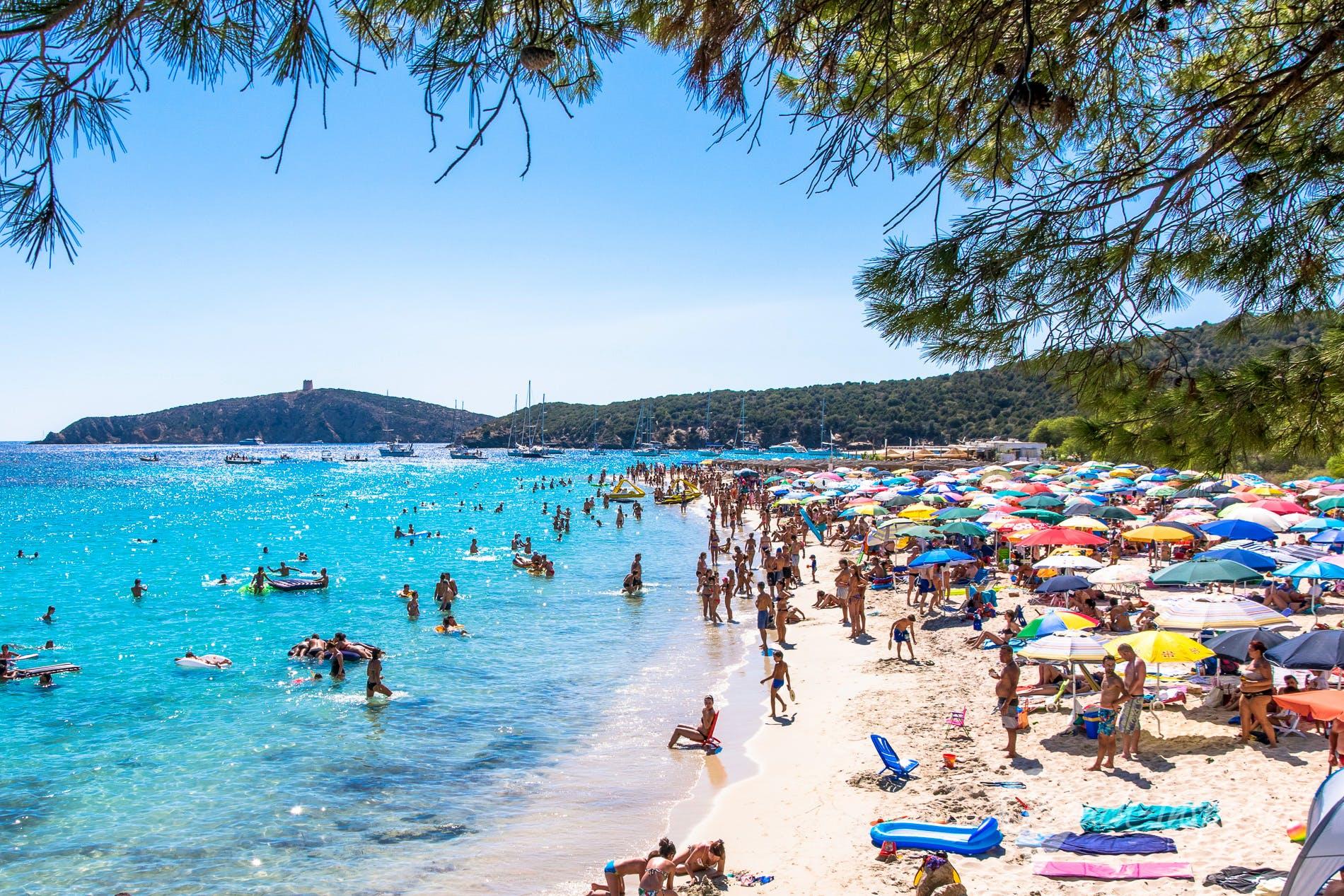 Beach Tuerredda, Sardinia, Italy