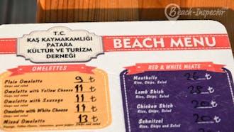Beach Menu
